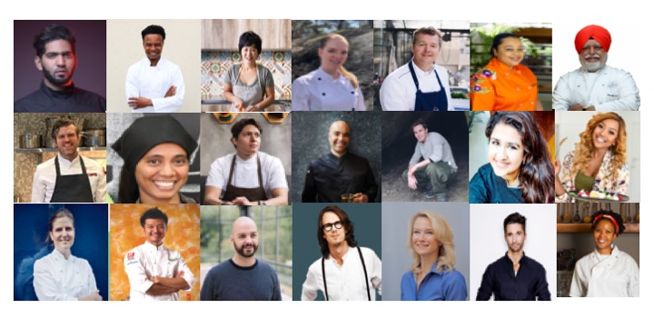 Our 19 global Chefs - See where they are from on our map below.