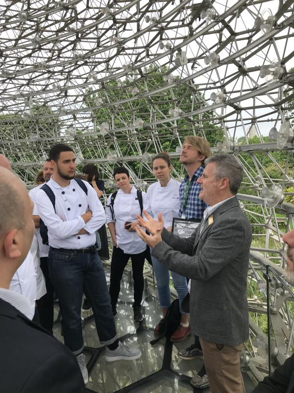 Dr Phil Stevenson, Kew's Senior Research Lead, talking with Chefs in The Hive